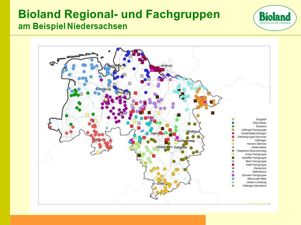 Bioland Regional- und Fachgruppen am Beispiel Niedersachsen
