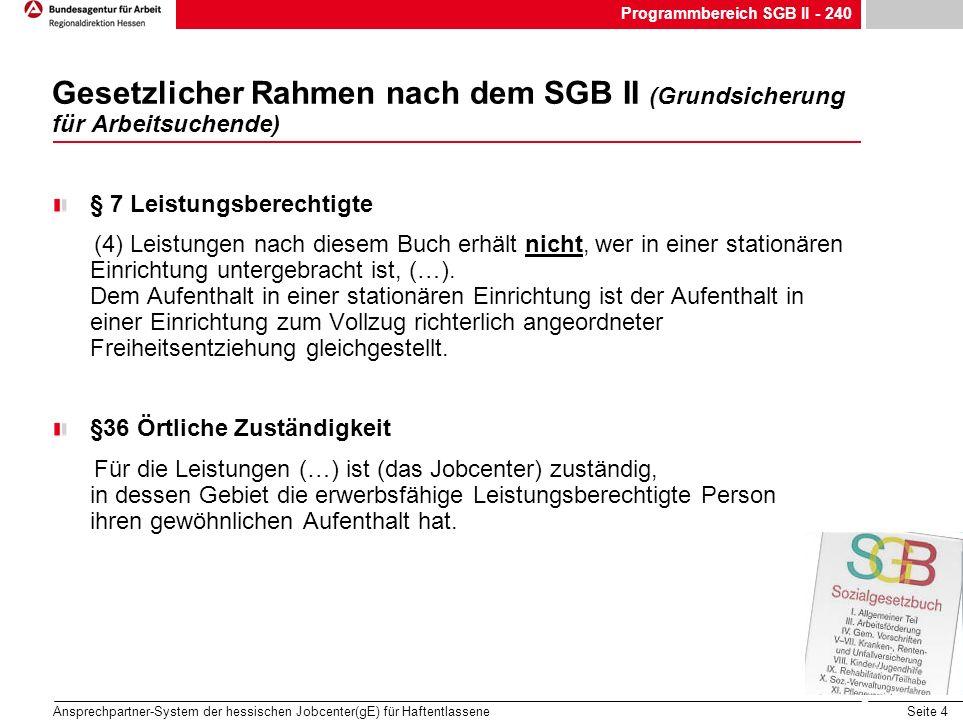 Programmbereich SGB II - 240