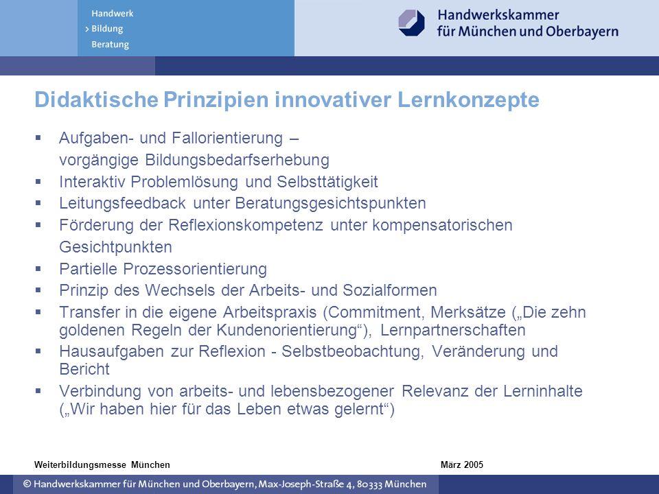 Didaktische Prinzipien innovativer Lernkonzepte