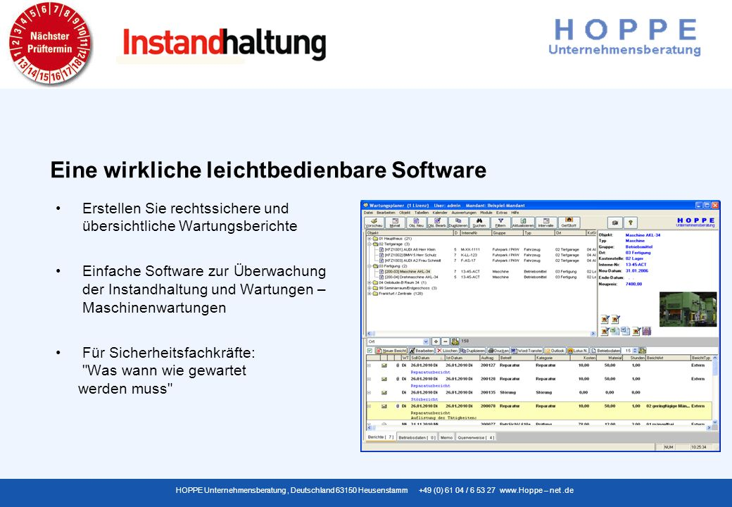 Eine wirkliche leichtbedienbare Software