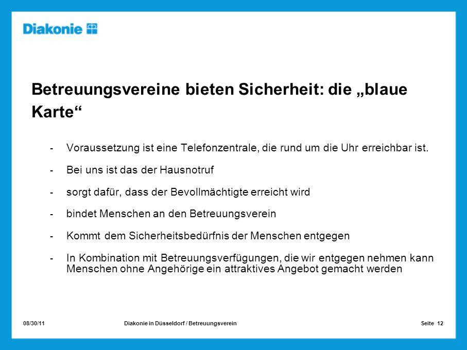 """Betreuungsvereine bieten Sicherheit: die """"blaue Karte"""