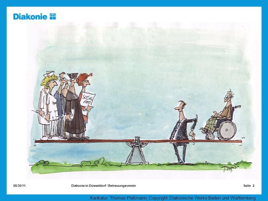 Karikatur: Thomas Plaßmann, Copyright: Diakonische Werke Baden und Württemberg