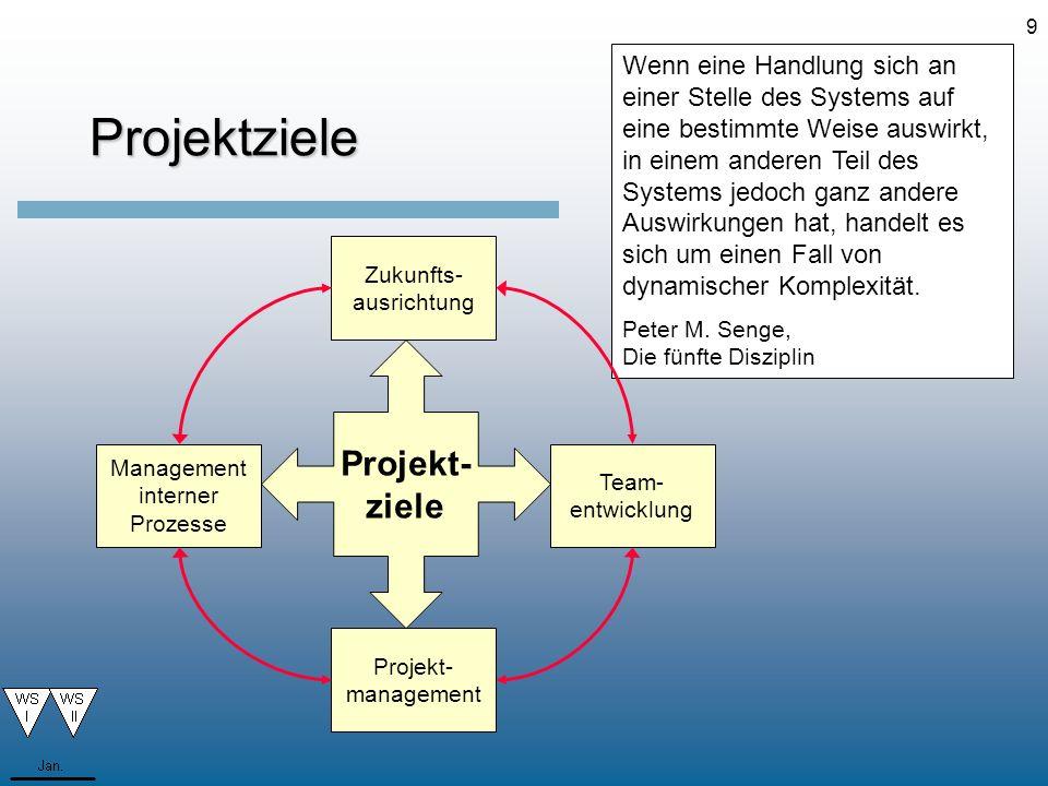 Projektziele Projekt- ziele