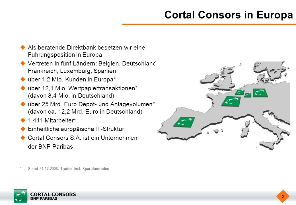 Cortal Consors in Europa