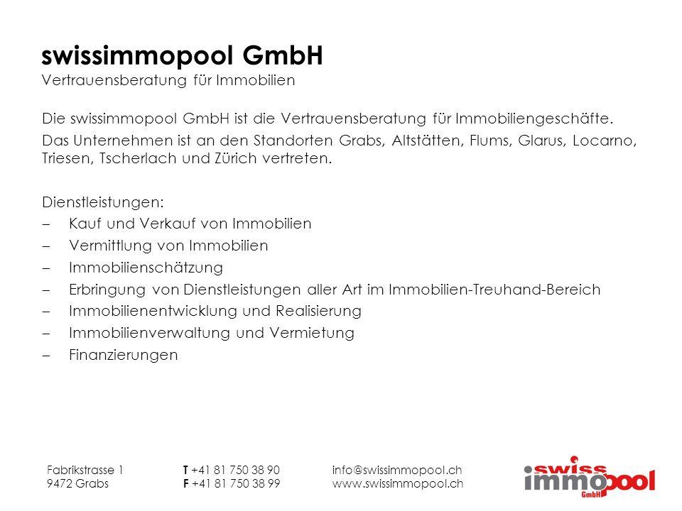 swissimmopool GmbH Vertrauensberatung für Immobilien