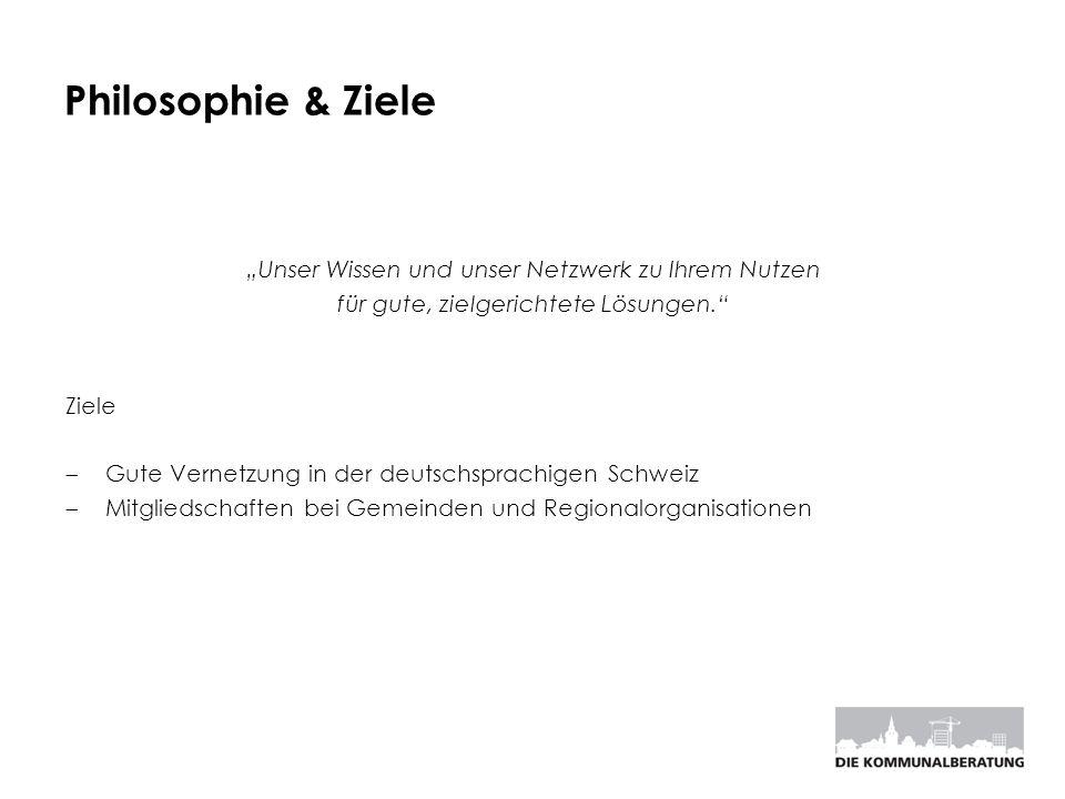 """Philosophie & Ziele """"Unser Wissen und unser Netzwerk zu Ihrem Nutzen"""
