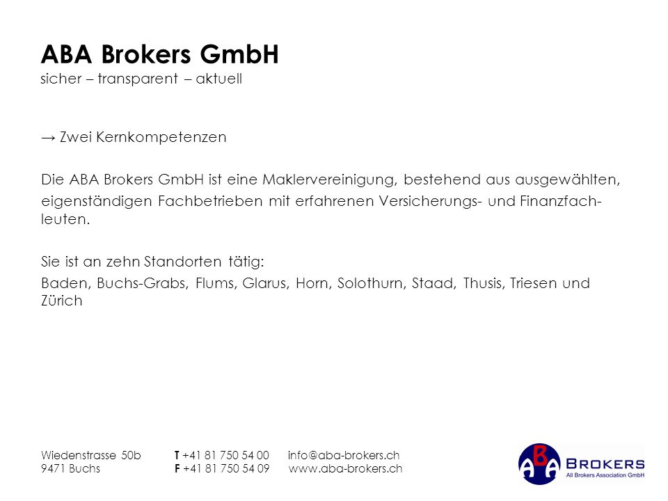 ABA Brokers GmbH sicher – transparent – aktuell