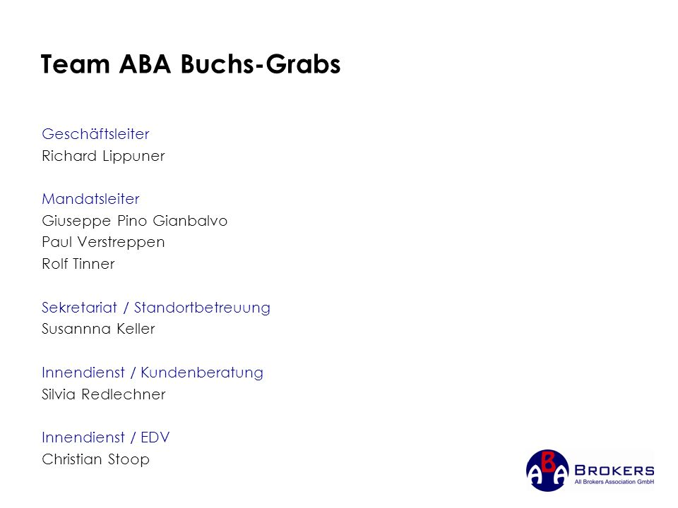 Team ABA Buchs-Grabs