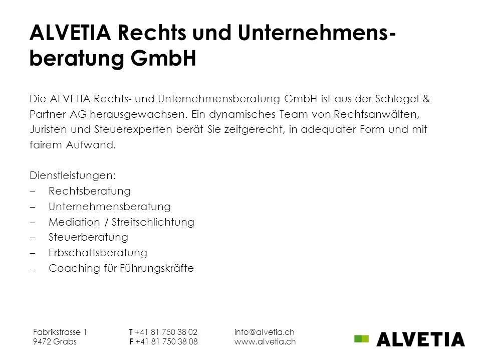 ALVETIA Rechts und Unternehmens-beratung GmbH