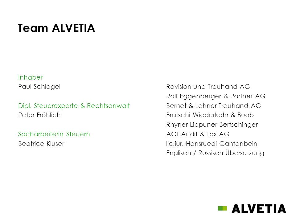 Team ALVETIA