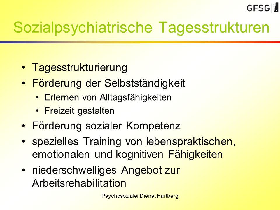 Sozialpsychiatrische Tagesstrukturen