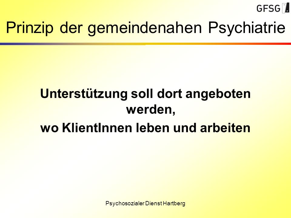 Prinzip der gemeindenahen Psychiatrie