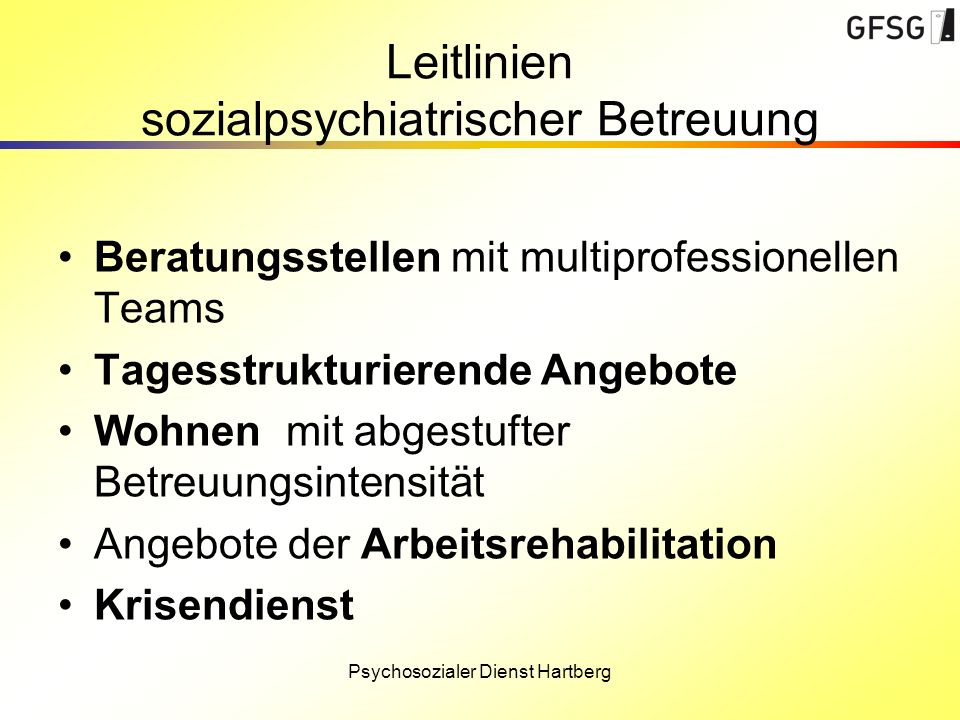 Leitlinien sozialpsychiatrischer Betreuung