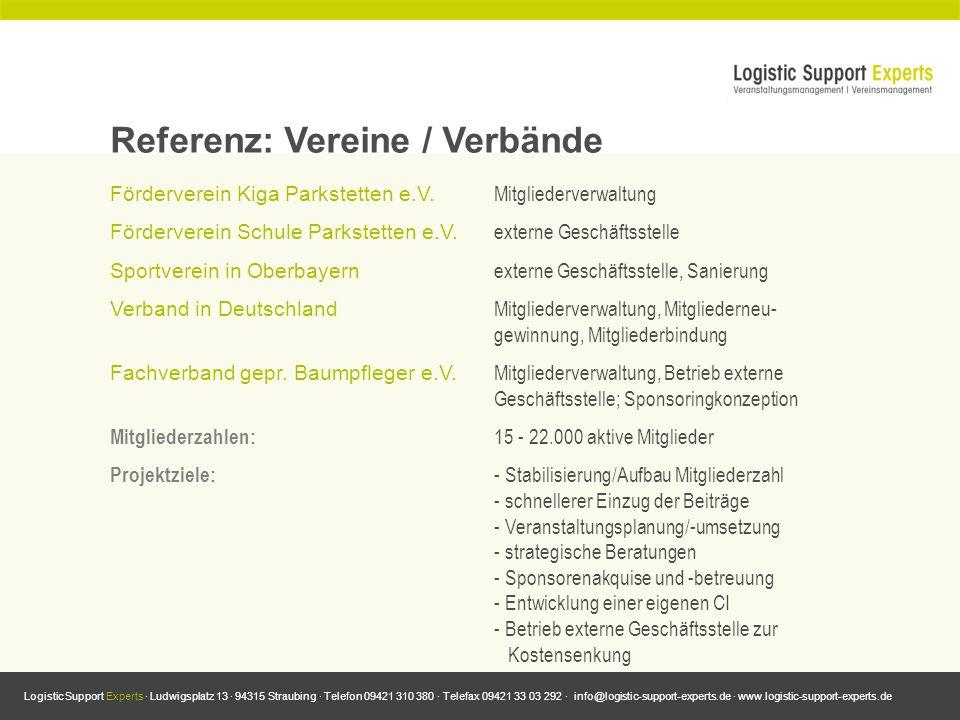 Referenz: Vereine / Verbände