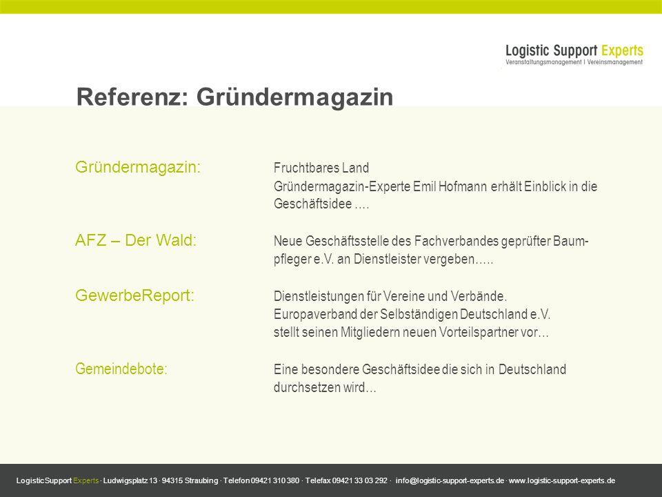 Referenz: Gründermagazin