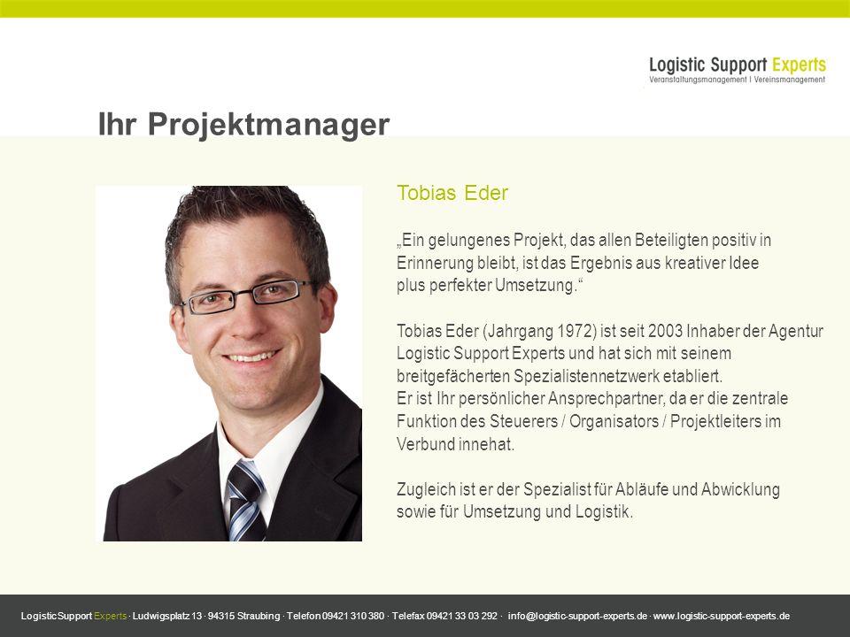 Ihr Projektmanager Tobias Eder