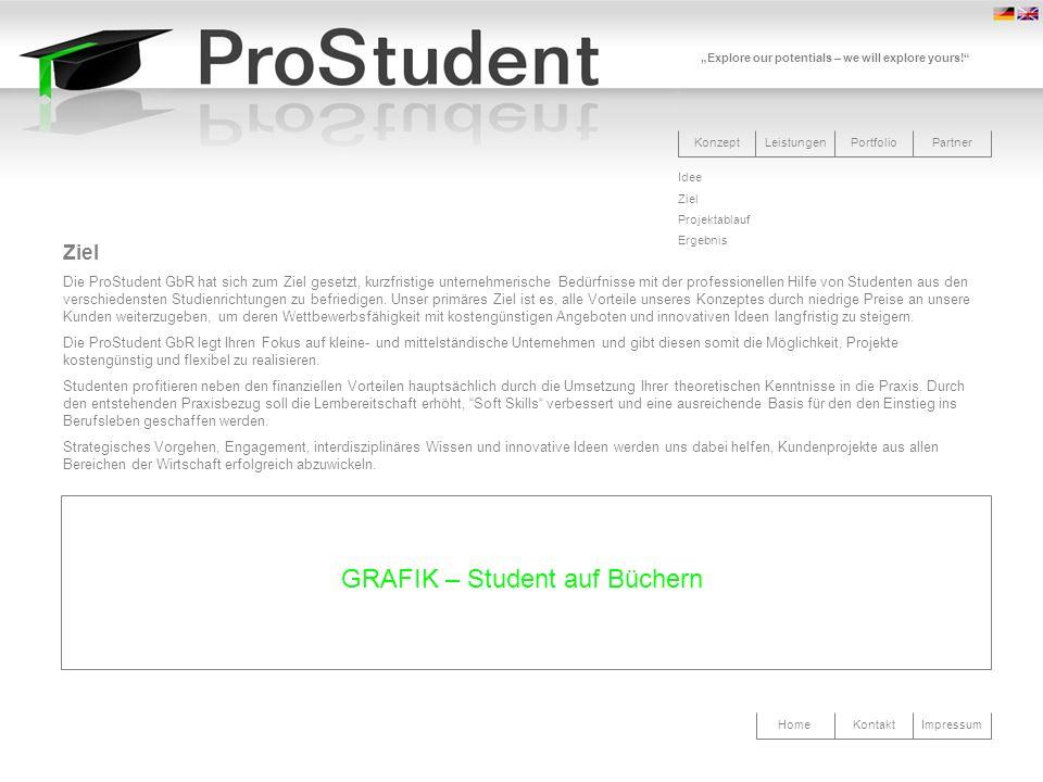 GRAFIK – Student auf Büchern