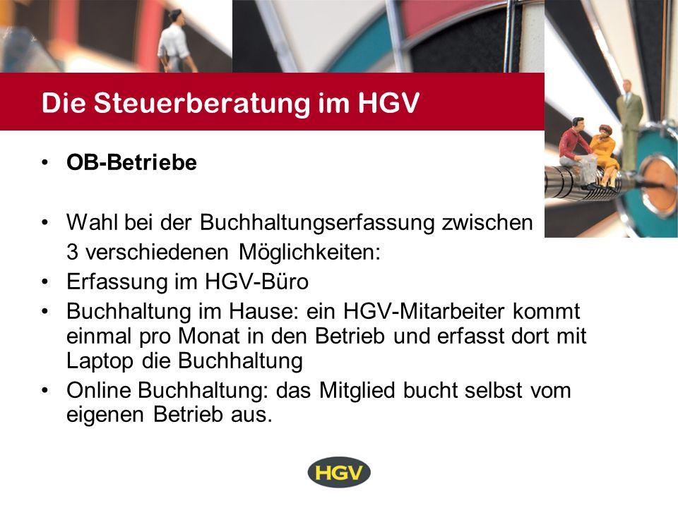 Die Steuerberatung im HGV