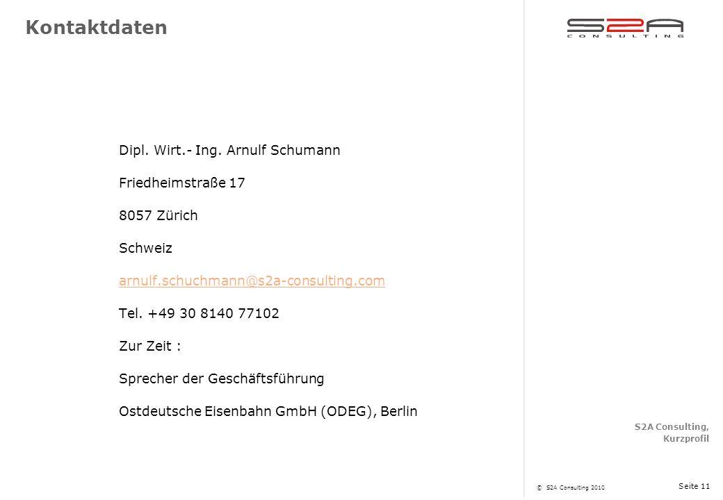Kontaktdaten Dipl. Wirt.- Ing. Arnulf Schumann Friedheimstraße 17