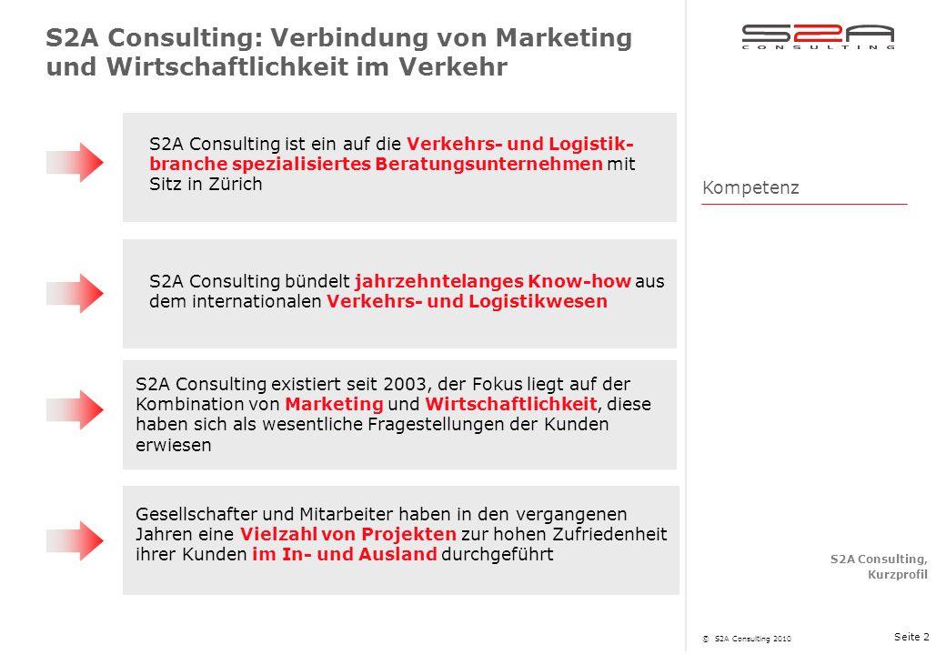 S2A Consulting: Verbindung von Marketing und Wirtschaftlichkeit im Verkehr
