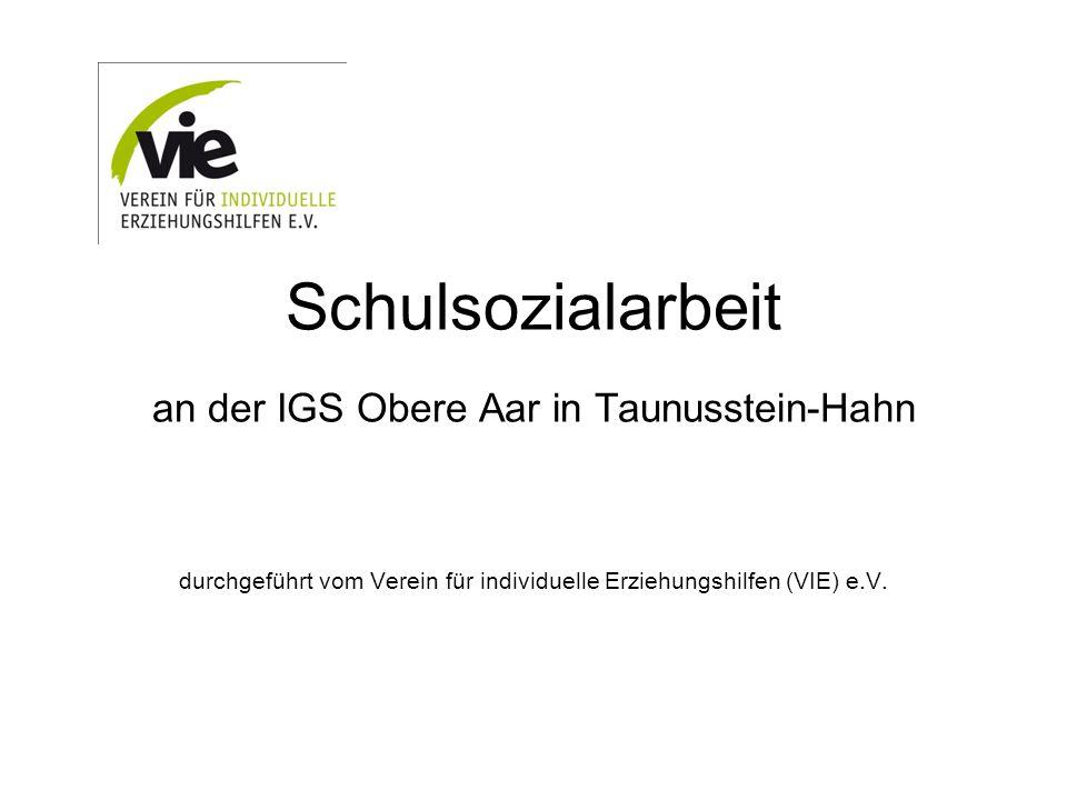 Schulsozialarbeit an der IGS Obere Aar in Taunusstein-Hahn