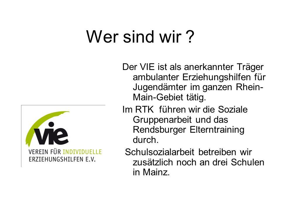 Wer sind wir Der VIE ist als anerkannter Träger ambulanter Erziehungshilfen für Jugendämter im ganzen Rhein-Main-Gebiet tätig.
