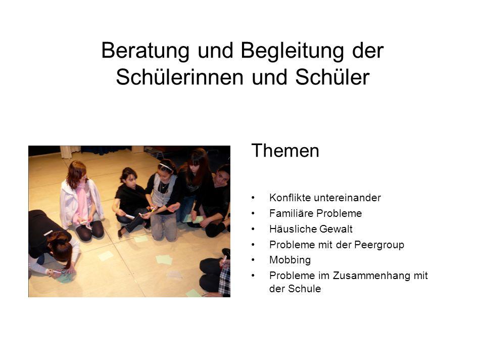 Beratung und Begleitung der Schülerinnen und Schüler