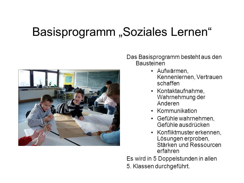 """Basisprogramm """"Soziales Lernen"""