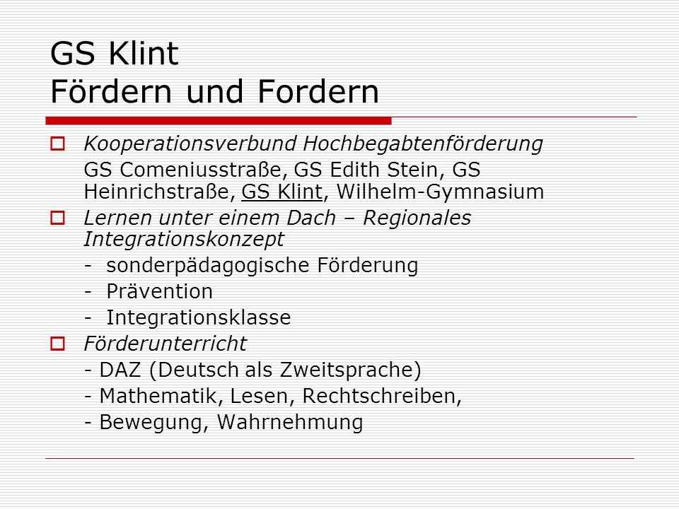 GS Klint Fördern und Fordern