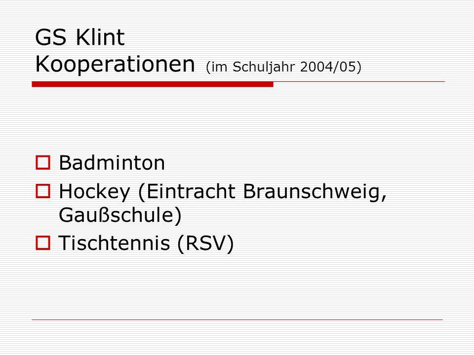 GS Klint Kooperationen (im Schuljahr 2004/05)