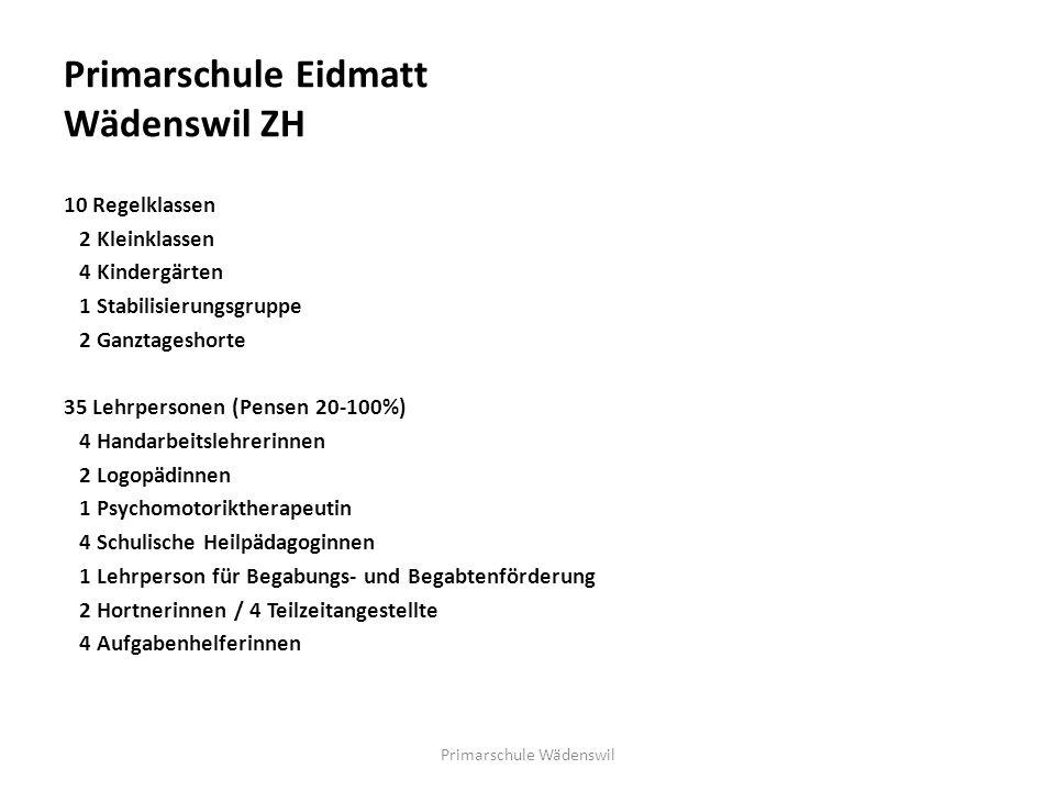Primarschule Eidmatt Wädenswil ZH