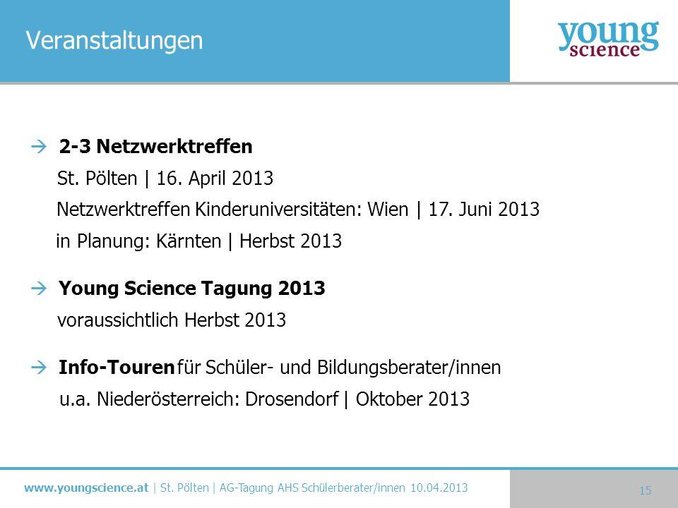 Veranstaltungen 2-3 Netzwerktreffen St. Pölten | 16. April 2013