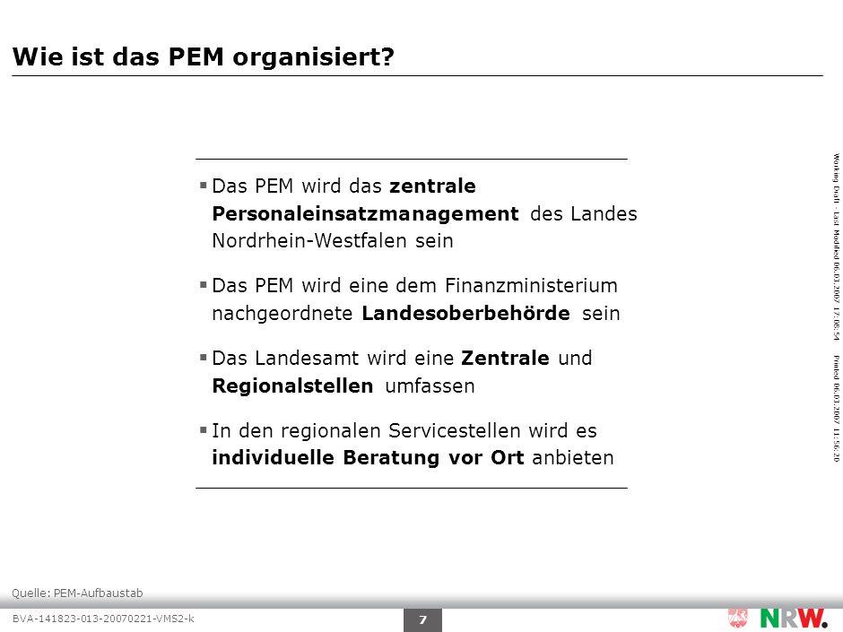 Agenda Warum ist das PEM erforderlich Wie funktioniert das PEM
