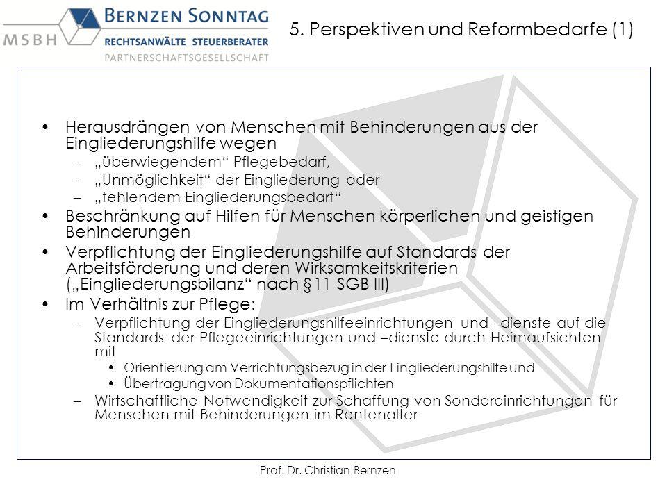 5. Perspektiven und Reformbedarfe (1)