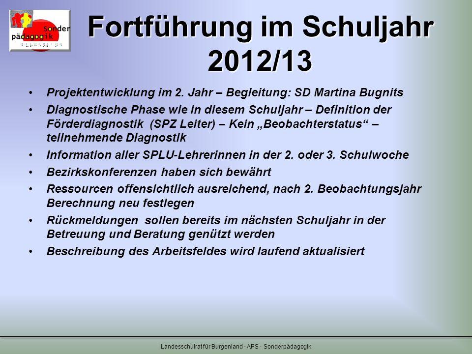 Fortführung im Schuljahr 2012/13