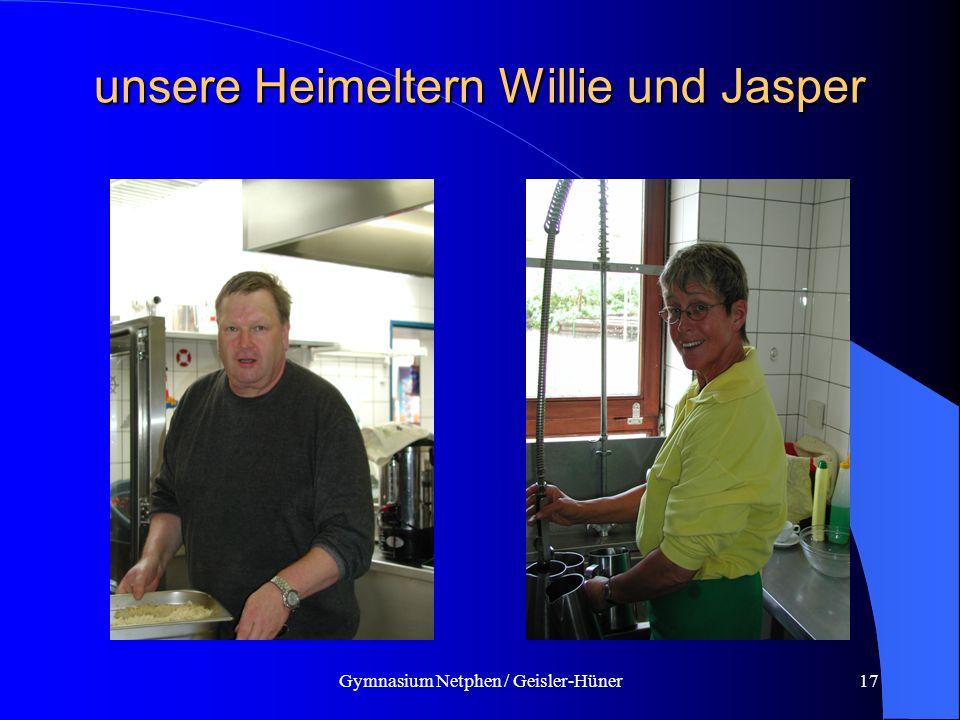 unsere Heimeltern Willie und Jasper