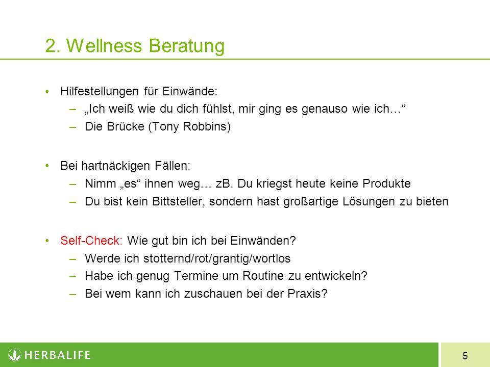 2. Wellness Beratung Hilfestellungen für Einwände: