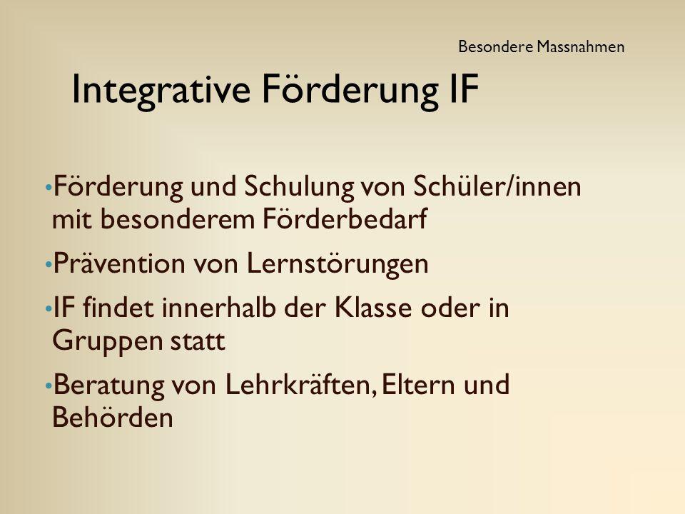 Integrative Förderung IF
