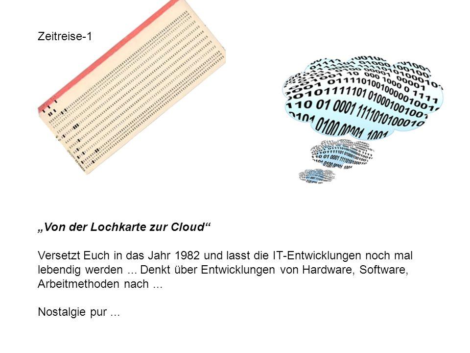 """Zeitreise-1 """"Von der Lochkarte zur Cloud"""