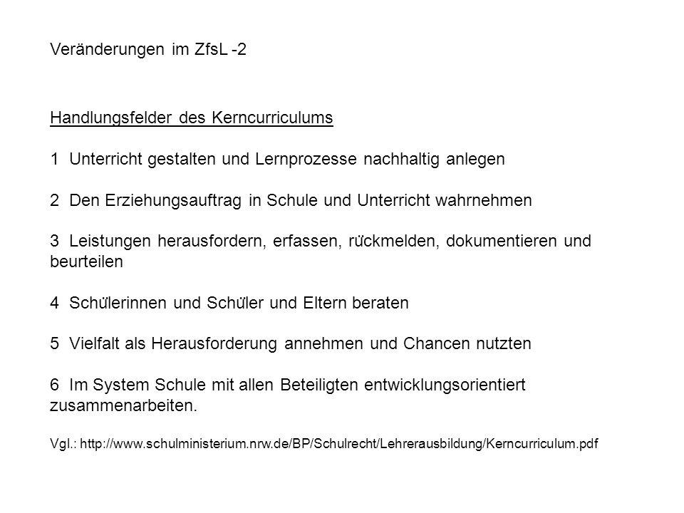 Veränderungen im ZfsL -2