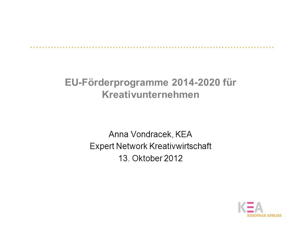 EU-Förderprogramme 2014-2020 für Kreativunternehmen