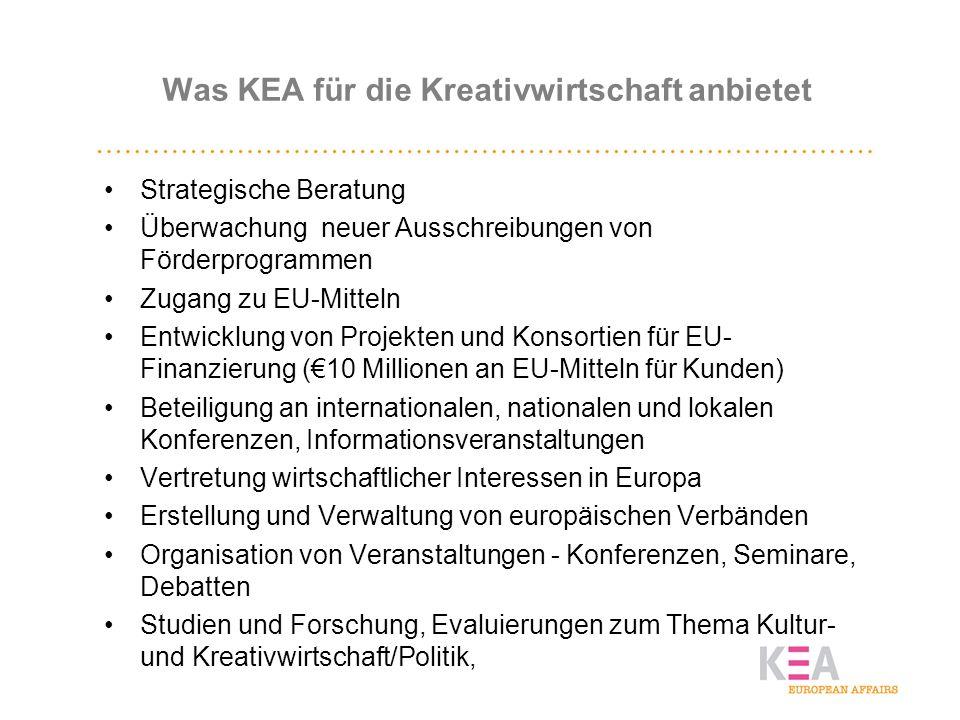 Was KEA für die Kreativwirtschaft anbietet