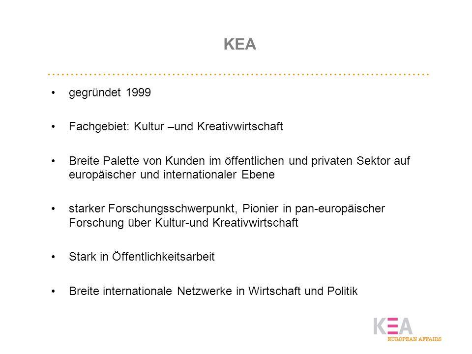 KEA gegründet 1999 Fachgebiet: Kultur –und Kreativwirtschaft