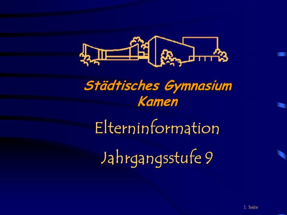 Städtisches Gymnasium Kamen