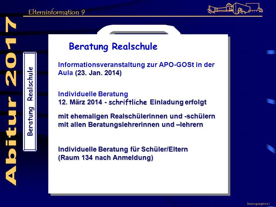 Abitur 2017 Beratung Realschule