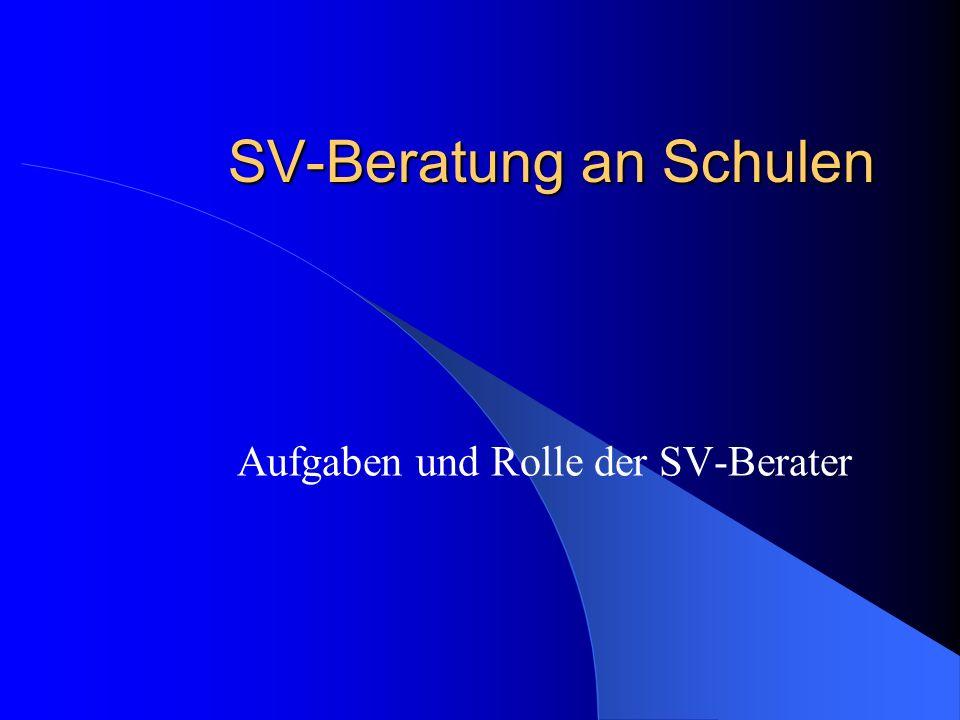 SV-Beratung an Schulen