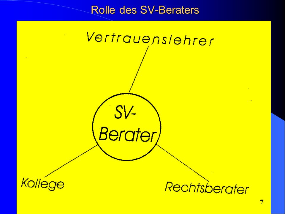Rolle des SV-Beraters