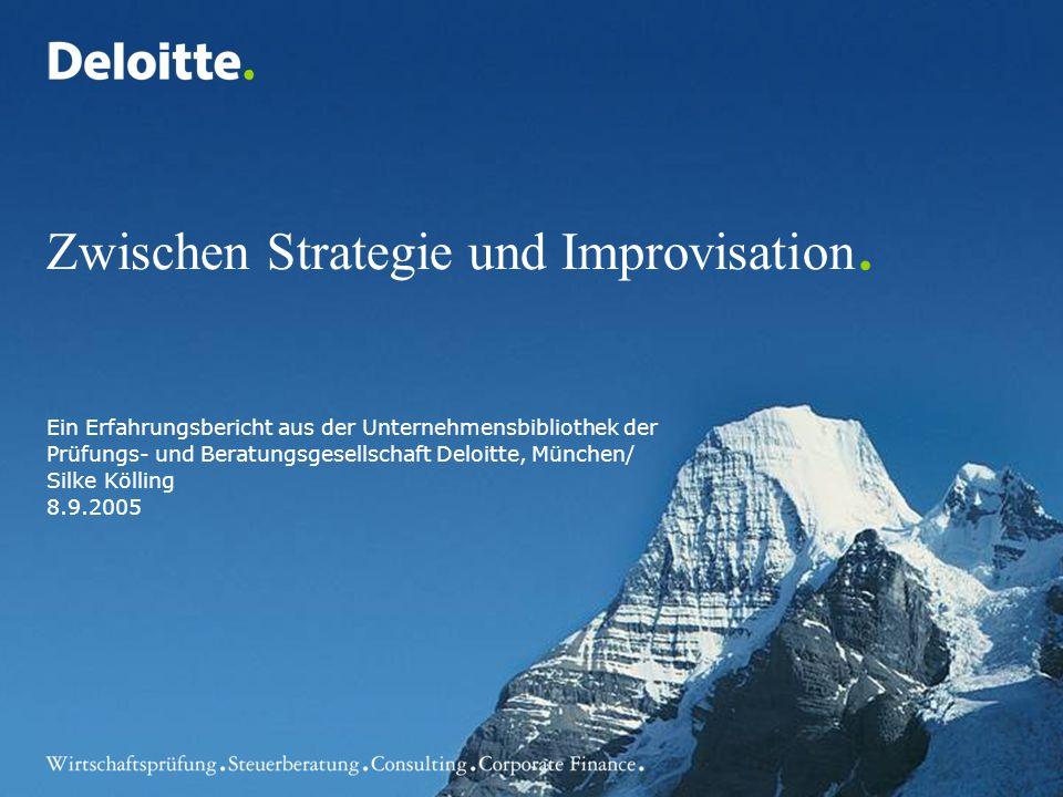 Zwischen Strategie und Improvisation.