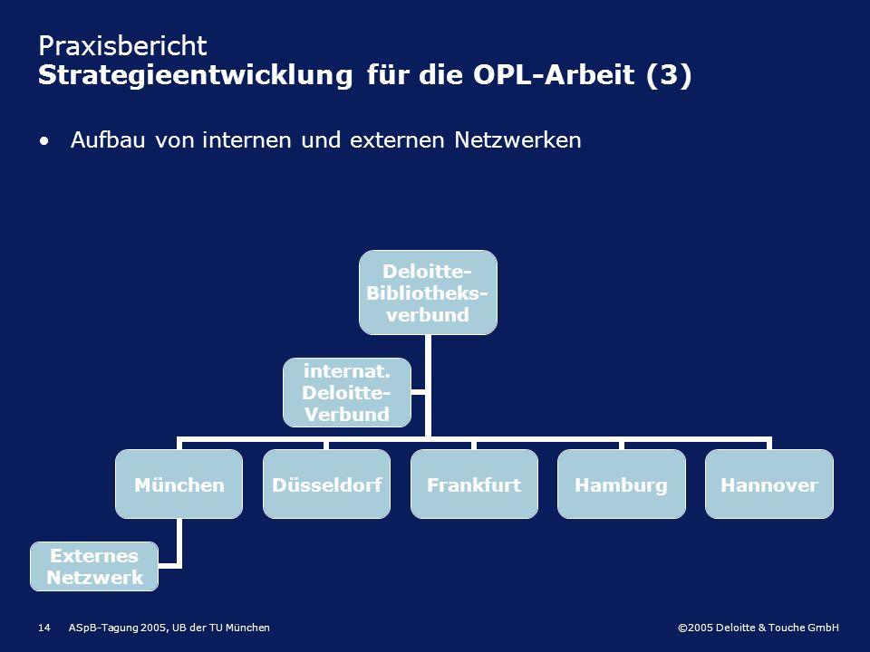 Praxisbericht Strategieentwicklung für die OPL-Arbeit (3)