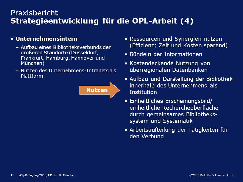 Praxisbericht Strategieentwicklung für die OPL-Arbeit (4)